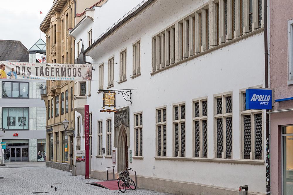 Außenansicht des Rosgartenmuseums in Konstanz