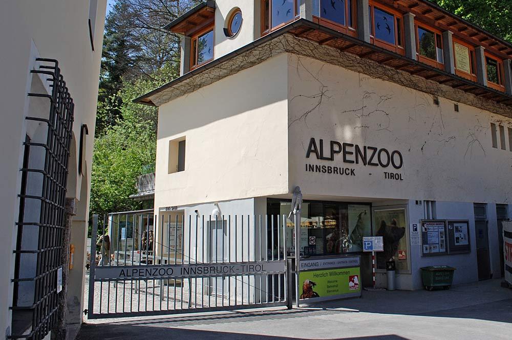 Haupteingang des Alpenzoos Innsbruck