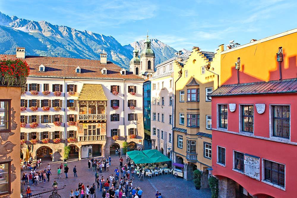 Altstadt Innsbrucks mit dem Goldenen Dachl