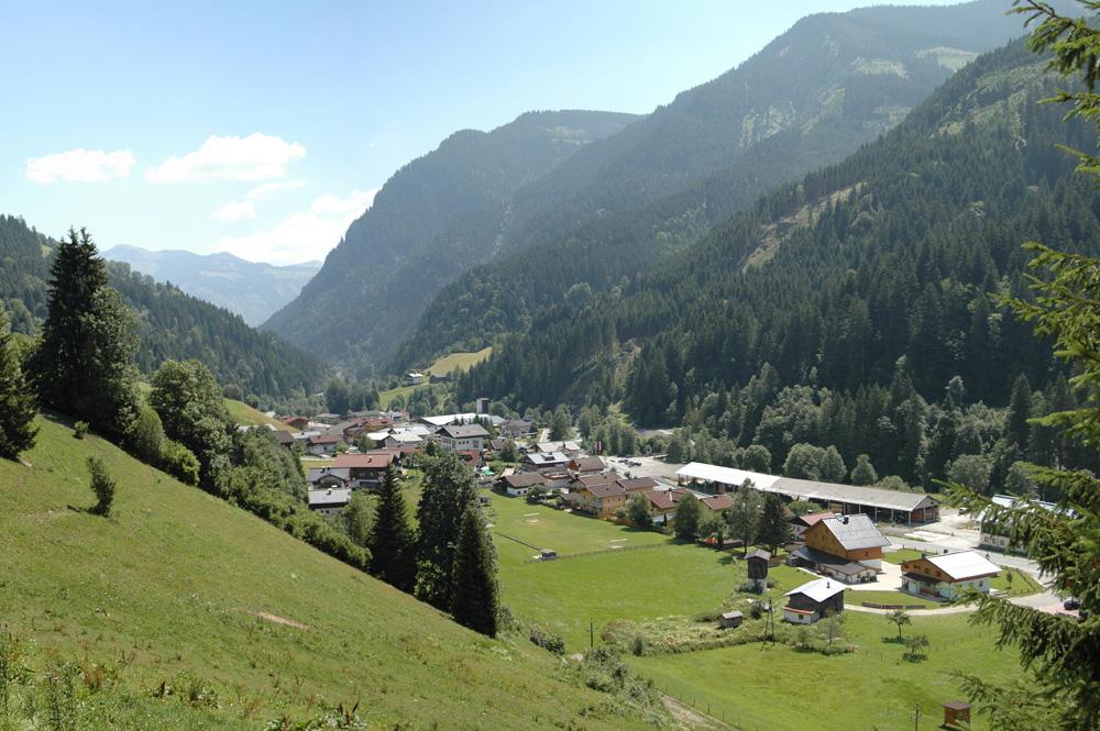 Blick auf Viehhofen bei Saalbach Hinterglemm