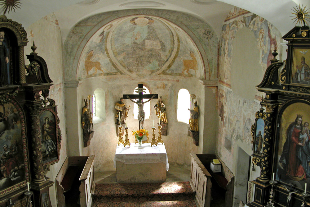 Fresken in der Kirche St. Rupert in Weißpriach