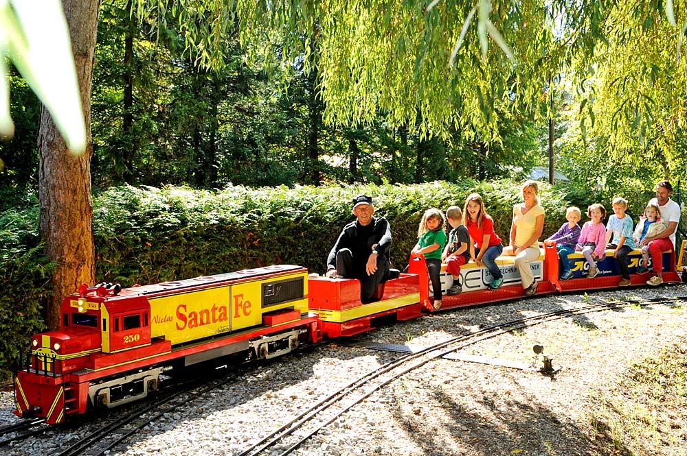 Gartenbahn im Mini-Dampf-Tirol in Mieming