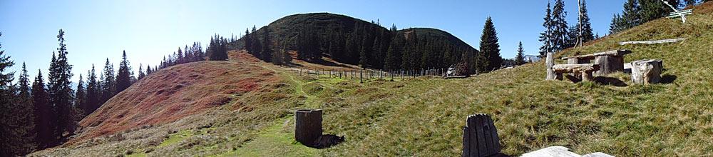 Der Gipfel des Gerzkopfs bei Eben im Pongau