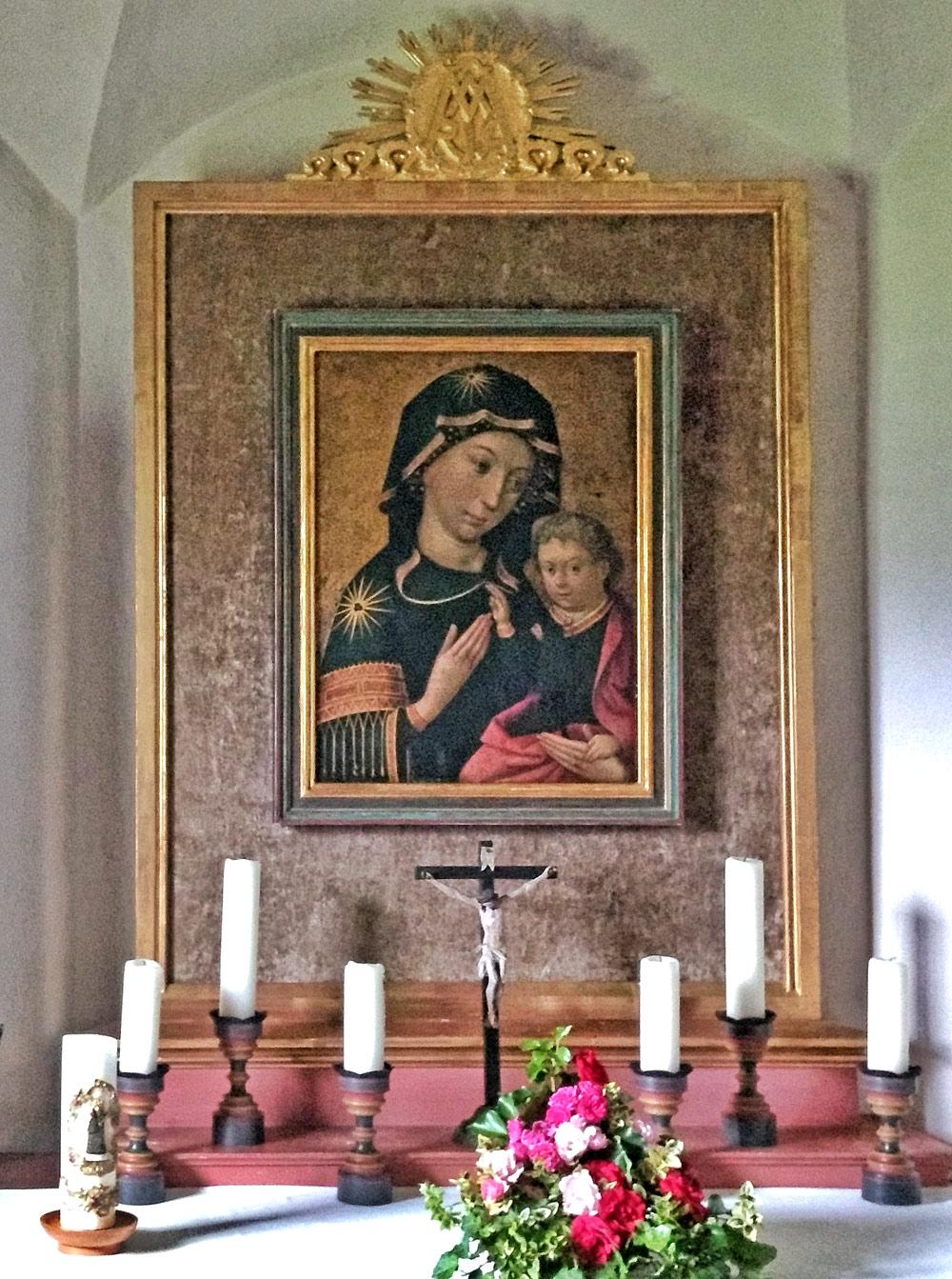 Holbeins Gemälde Madonna mit Kind in der Pfarrkirche Bad Hindelang