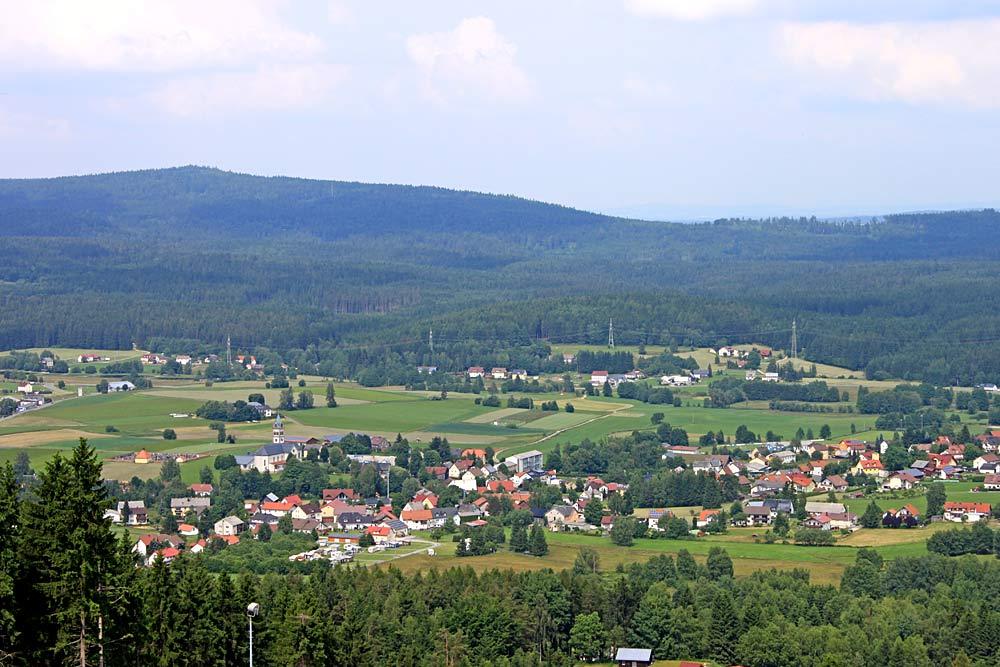 Blick vom Klausenberg auf Mehlmeisel