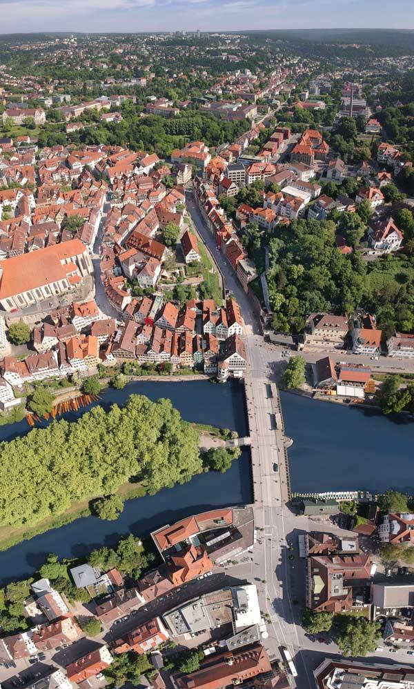 Luftbild von Tübingen