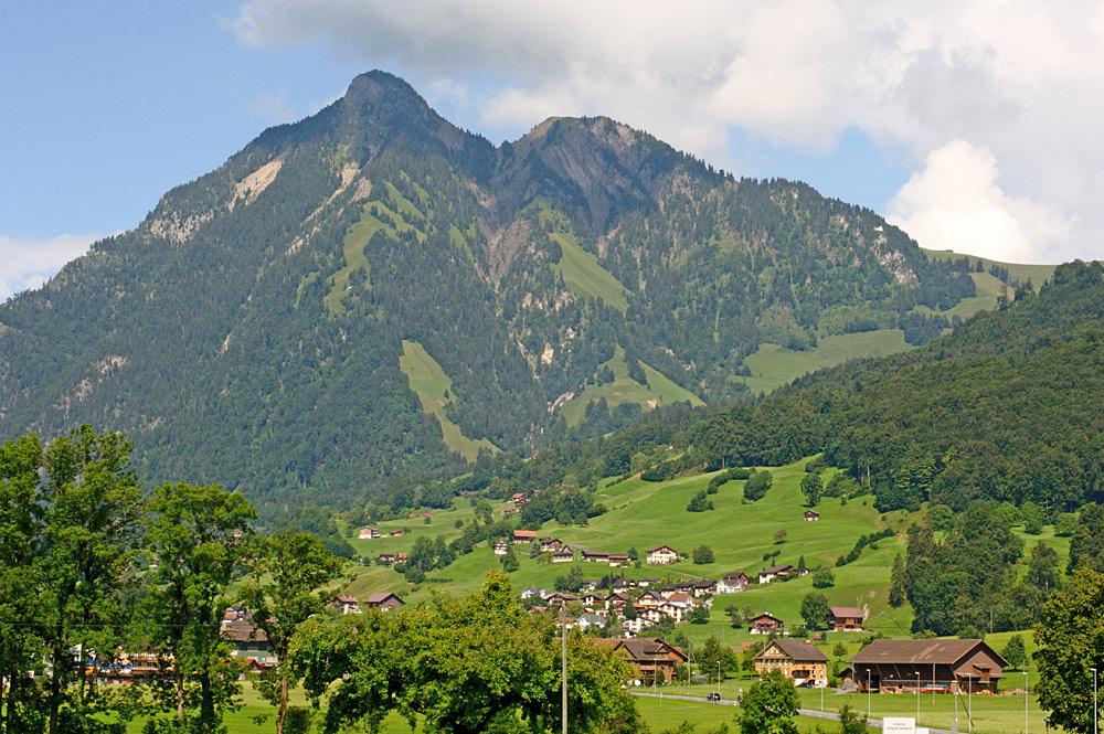 Blick von Südwesten auf das Stanserhorn