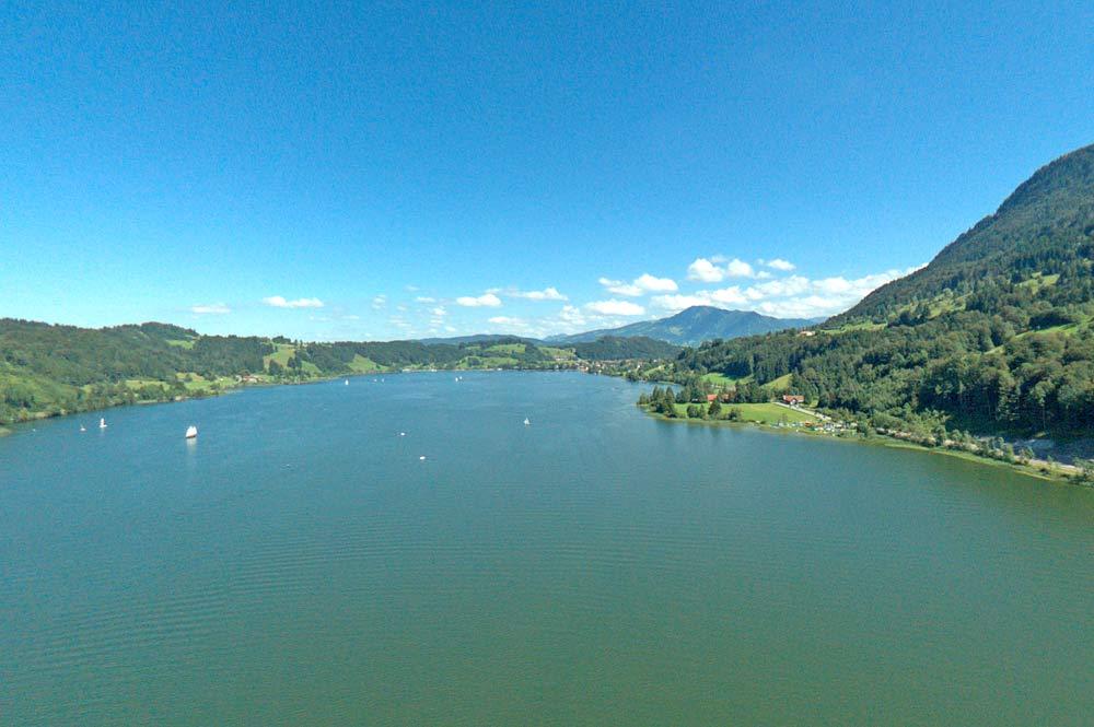 Blick auf den Großen Alpsee bei Immenstadt