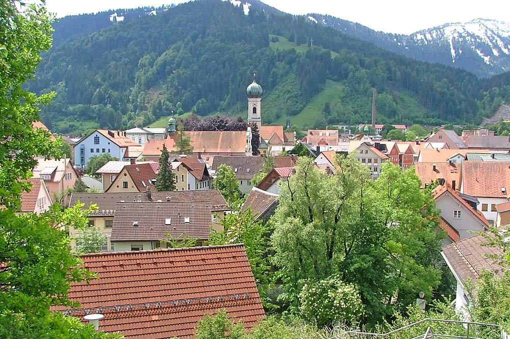 Blick auf Immenstadt im Allgäu