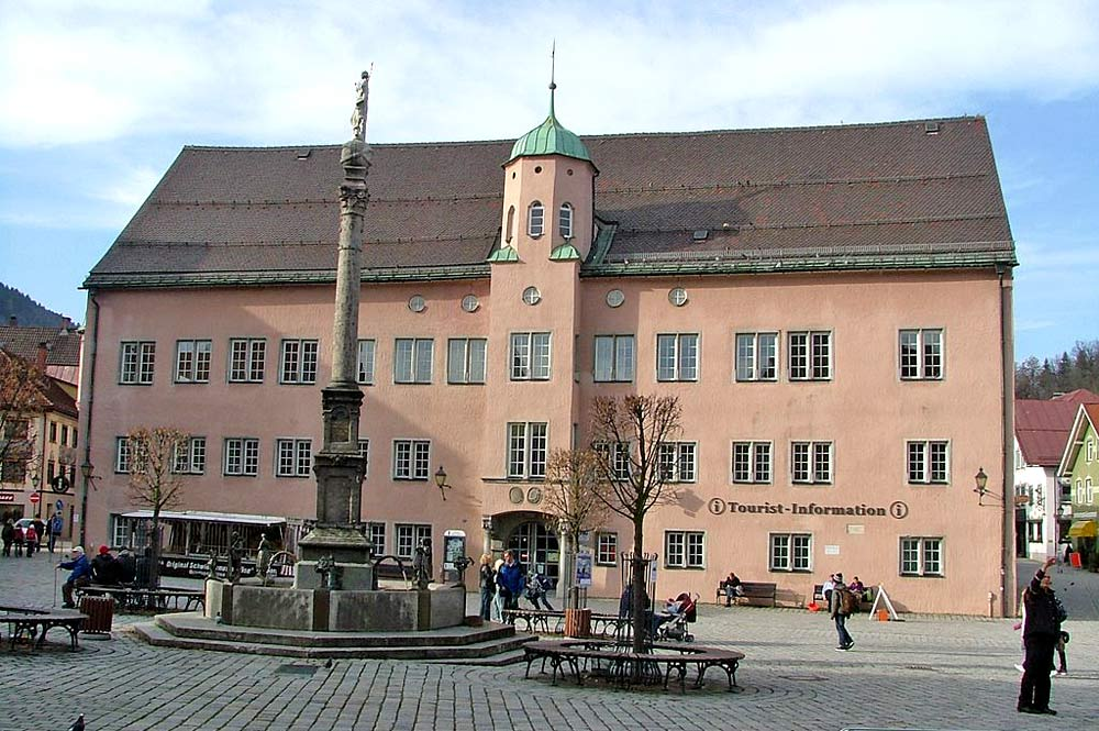 Fassade des Stadtschloss Immenstadt in Immenstadt
