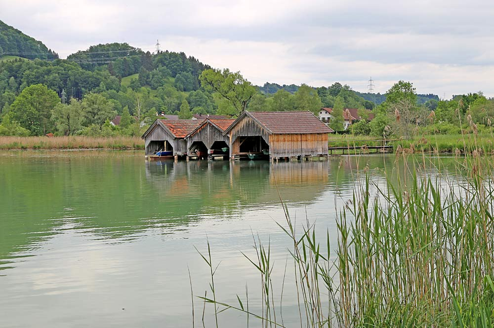 Holzhütten am Kochelsee bei Schlehdorf