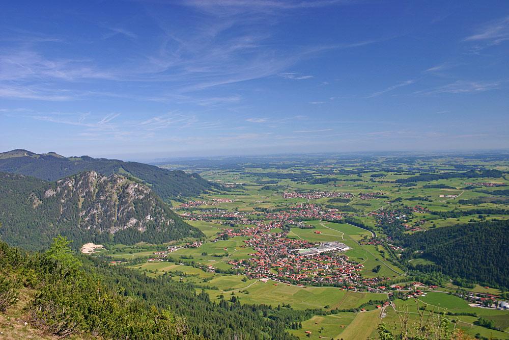 Blick vom Breitenberg auf Pfronten