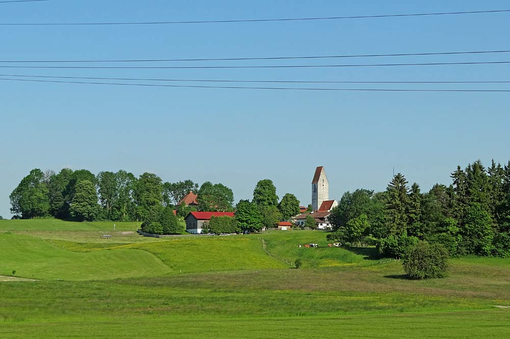 Blick auf die Gemeinde Münsing
