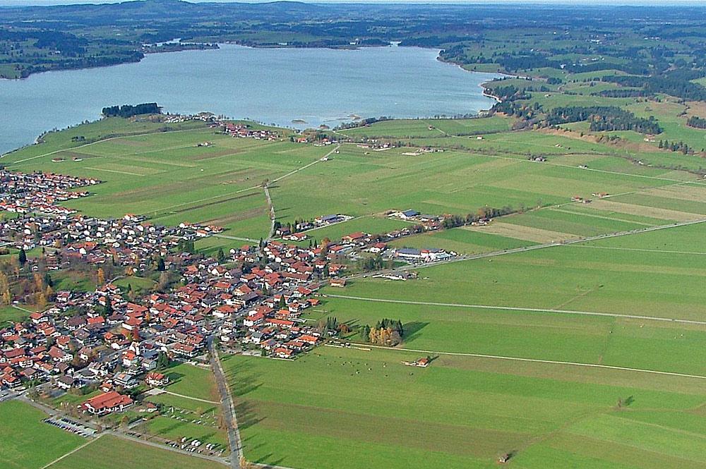 Luftaufnahme von Schwangau
