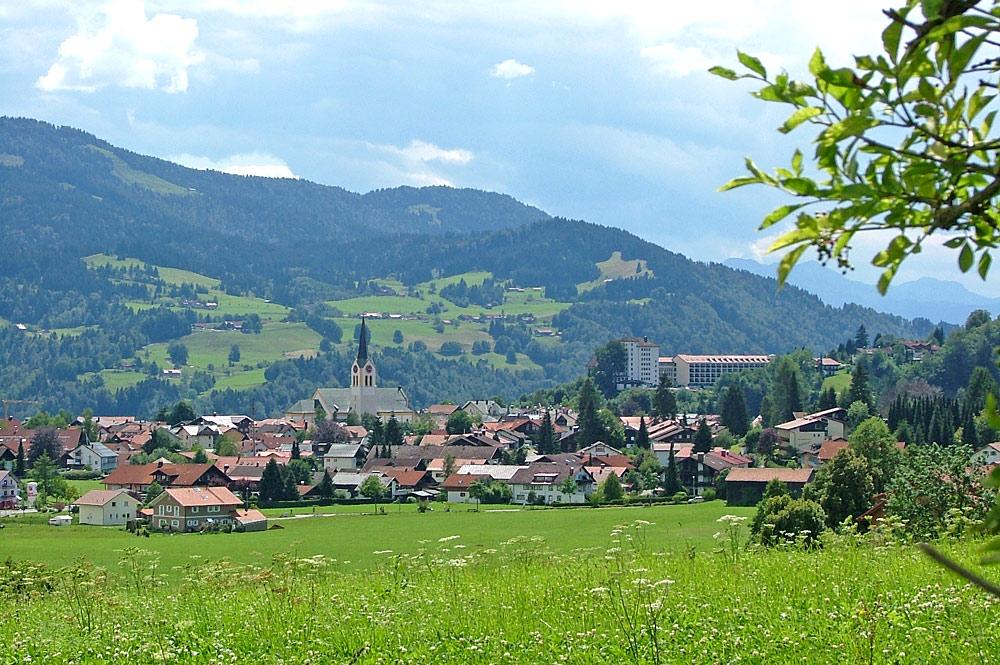 Ortsansicht von Oberstaufen