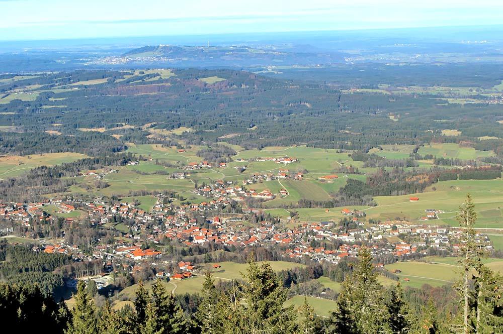 Luftaufnahme vom Hörnle aus von Bad Kohlgrub