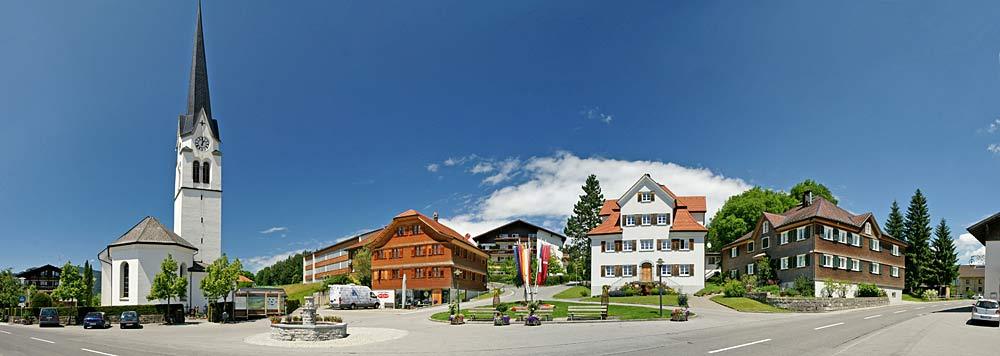 Panorama von Lingenaus Zentrum