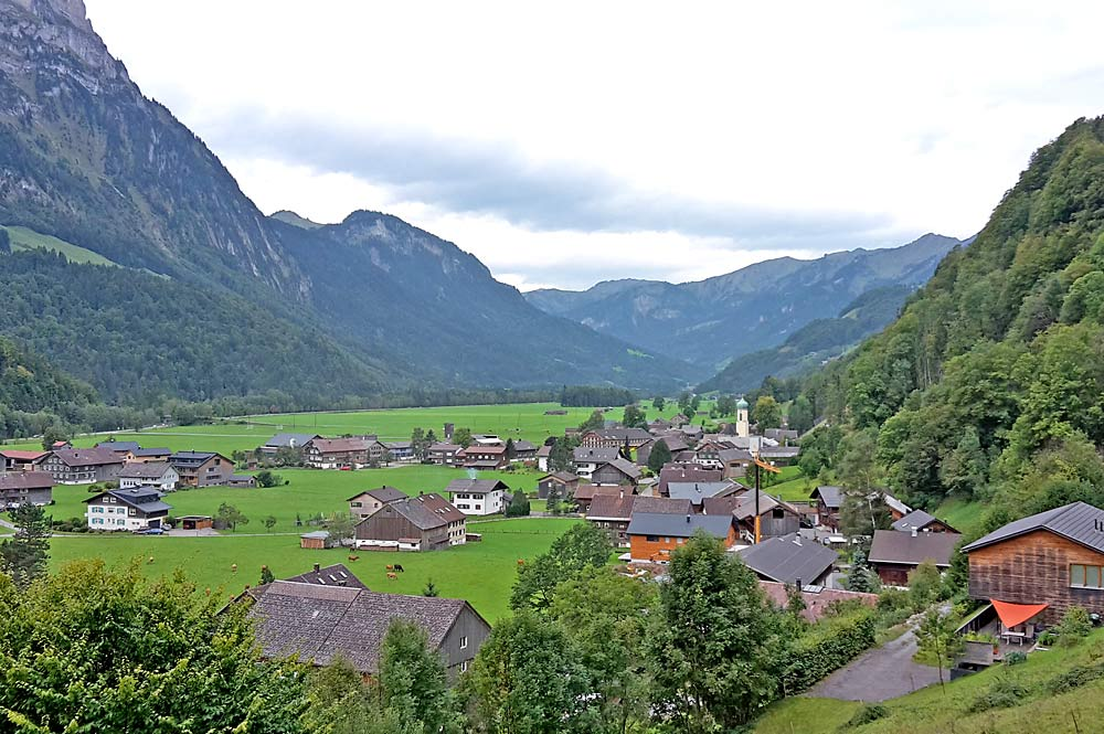 Blick auf die Gemeinde Schnepfau