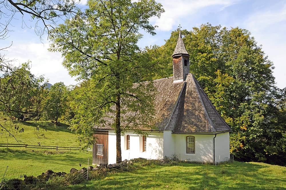 Kapelle St. Wendelin auf der Schnepfegg bei Schnepfau