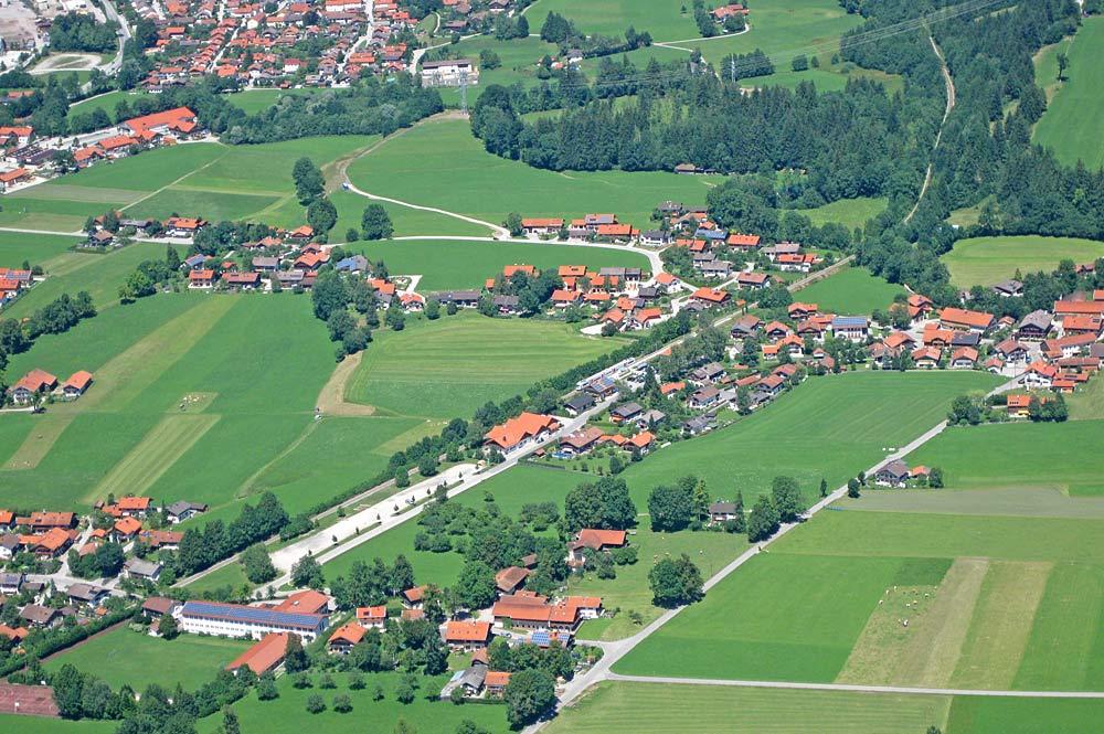 Luftaufnahme von Gaissach