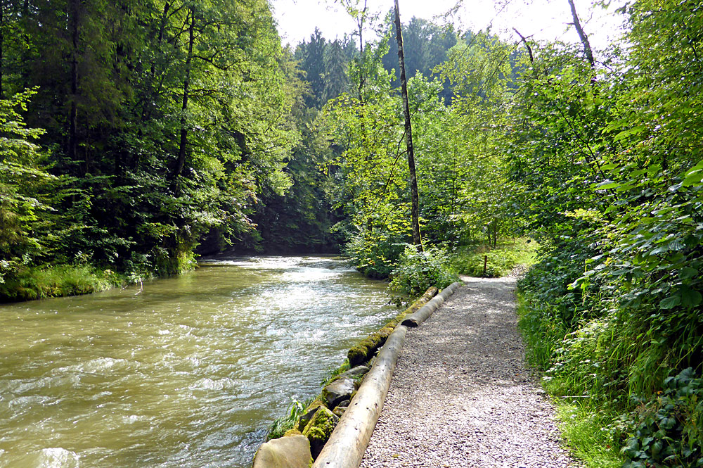 Der Eistobelfluss im Naturschutzgebiet Eistobel bei Grünenbach