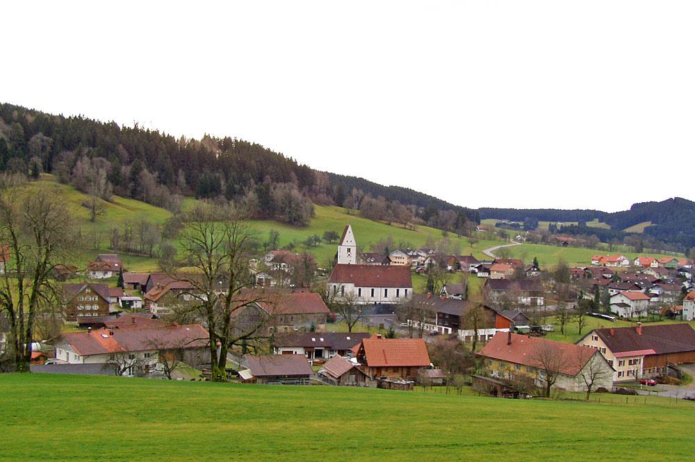 Ortsansicht von Grünenbach im Allgäu