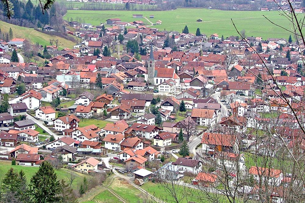 Ortsansicht von Burgberg im Allgäu