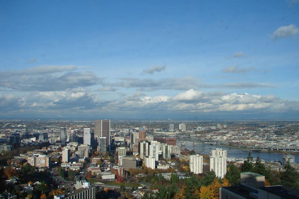 Blick über die Skyline von Portland