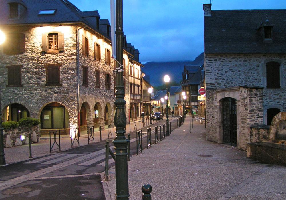 Straße in Saint-Lary-Soulan