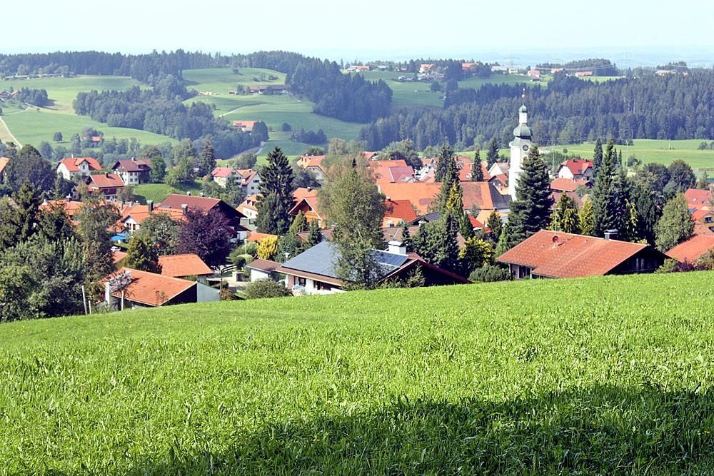 Blick vom Höhenweg auf Scheidegg