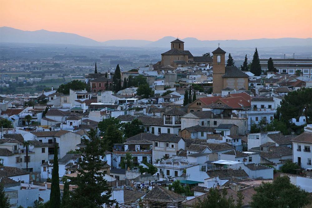 Blick auf den Ortsteil Albaicin in Granada