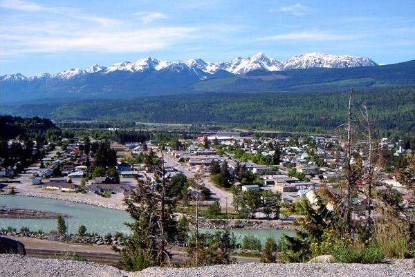 Blick auf Golden in British Columbia