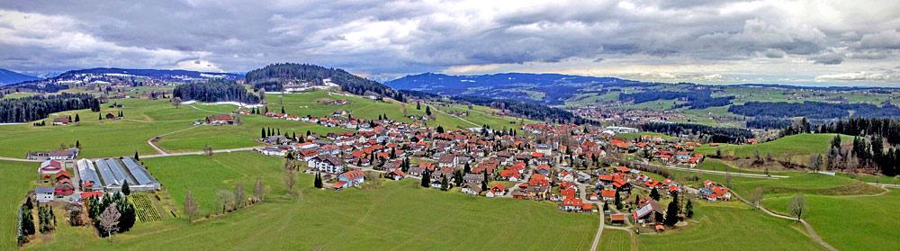 Panoramaaufnahme von Simmerberg