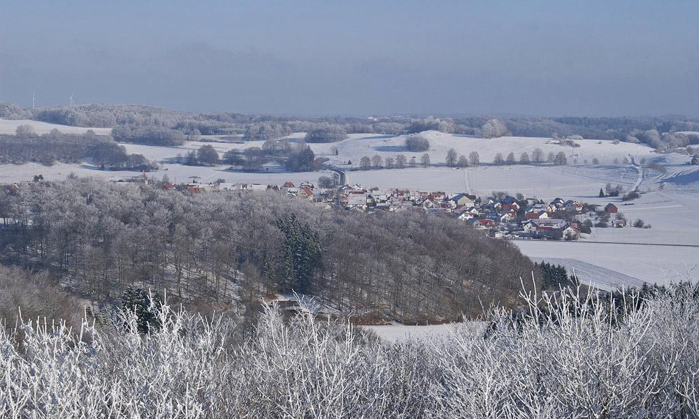 Blick auf den Römersteiner Ortsteil Donnstetten
