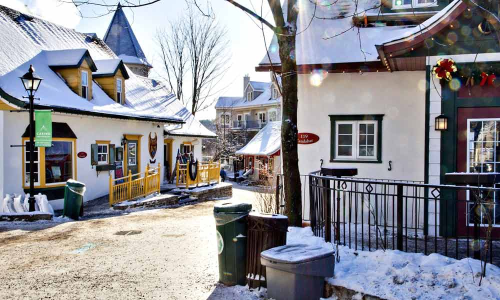Straße in Mont-Tremblant