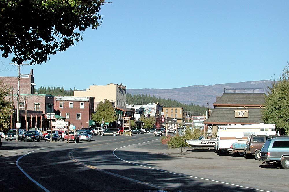 Blick auf Downtown Truckee