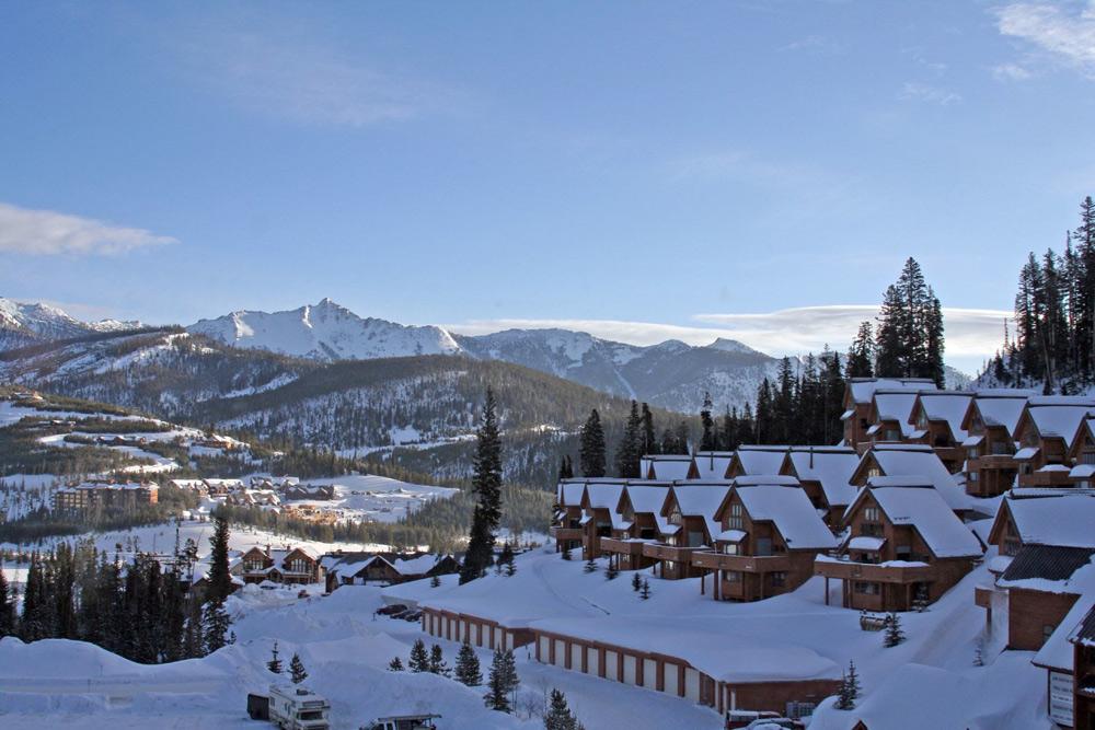 Blick auf Big Sky Resort