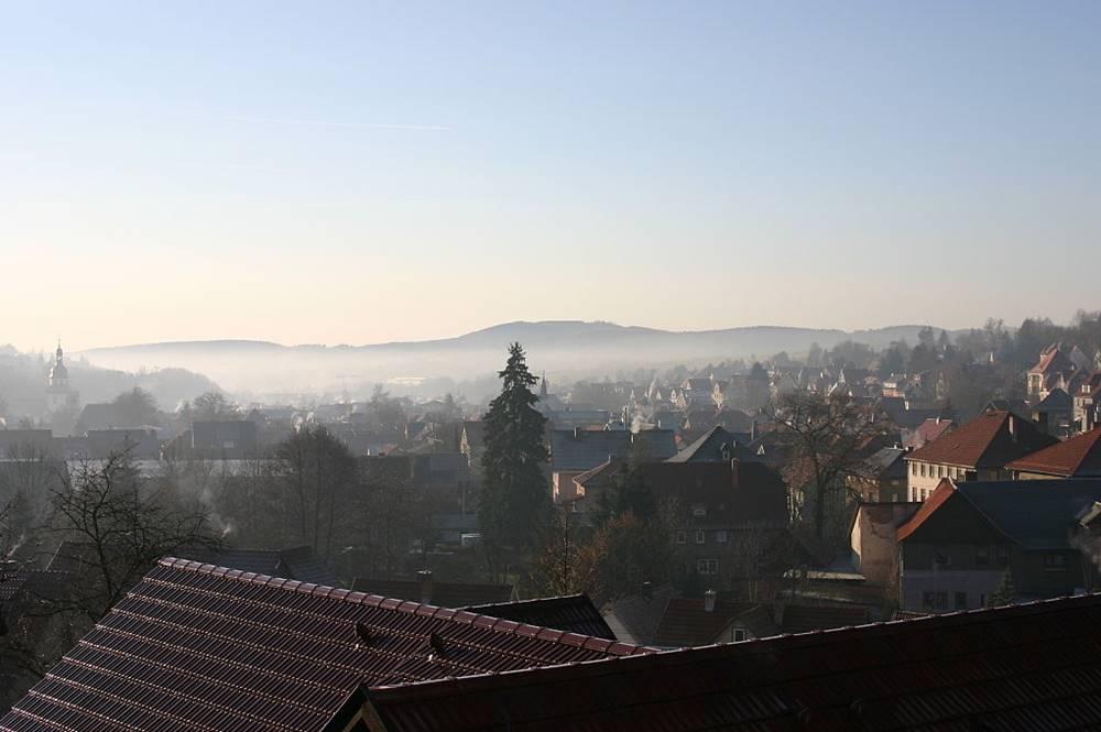 Blick vom Schloßberg auf Steinbach-Hallenberg