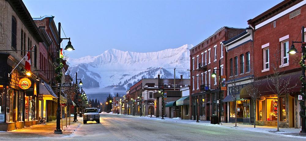 Blick auf Downtown Fernie