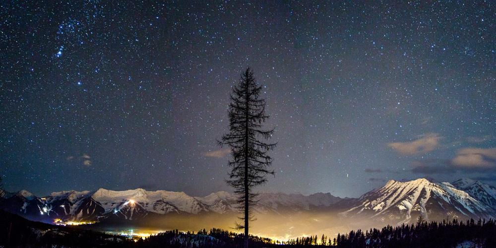 Nachthimmel über Fernie