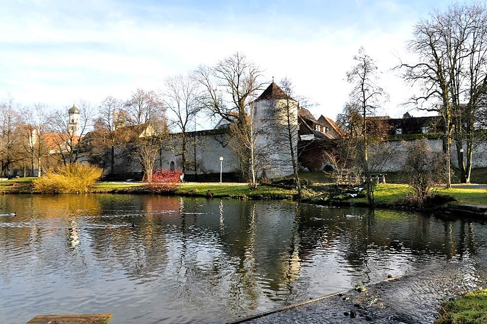 Kurpark von Isny mit Teich