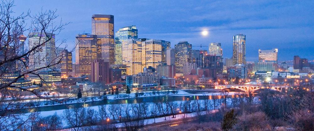 Blick auf die Skyline von Calgary