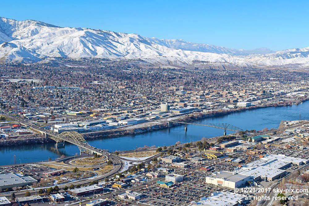 Luftaufnahme von Wenatchee