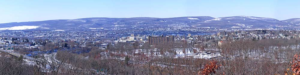 Panorama von Scranton im Winter