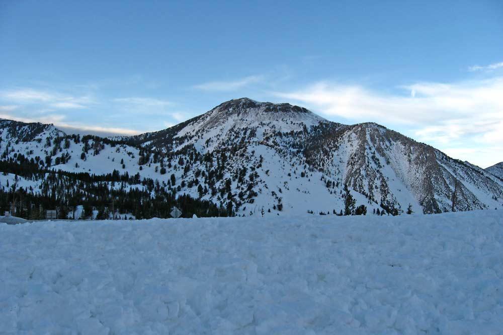 Blick auf den Mount Rose nach einem Schneesturm