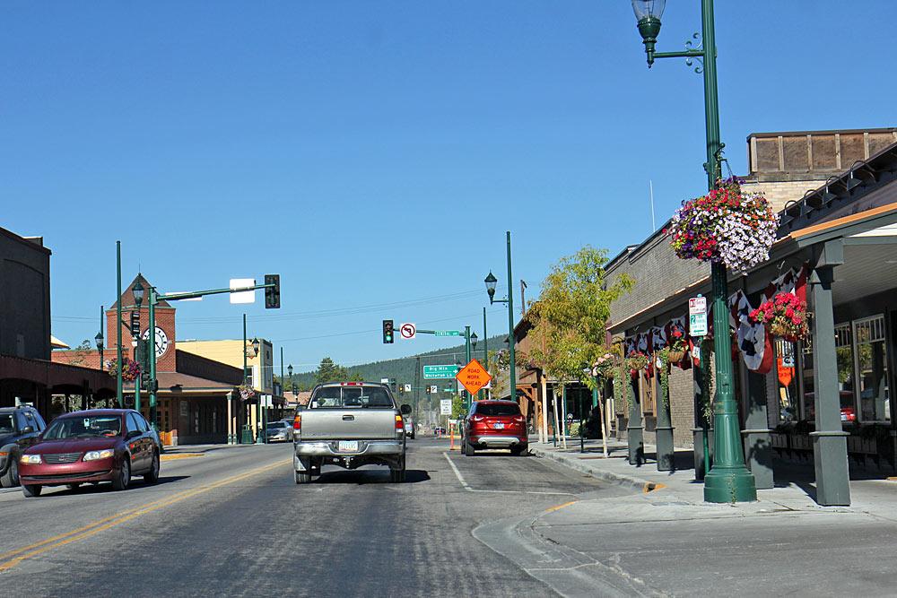 Blick auf Downtown Whitefish