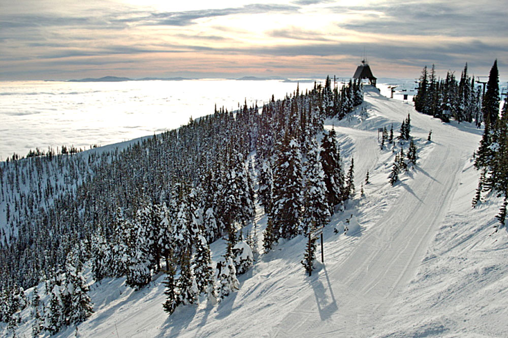 Gipfel im Whitefish Mountain Resort