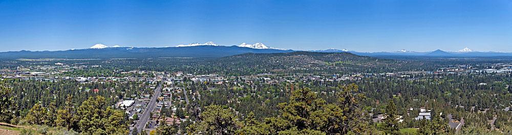 Blick vom Aussichtspunkt Pilot Butte auf Bend