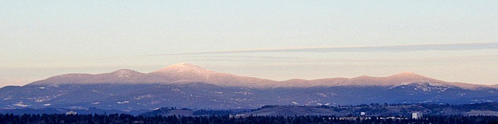 Blick von Südwesten auf Mount Spokane