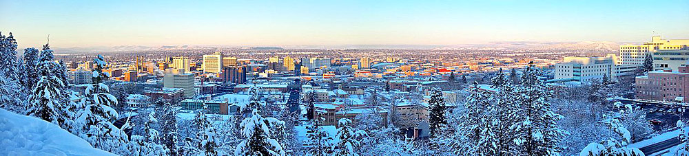 Panorama von Downtown Spokane